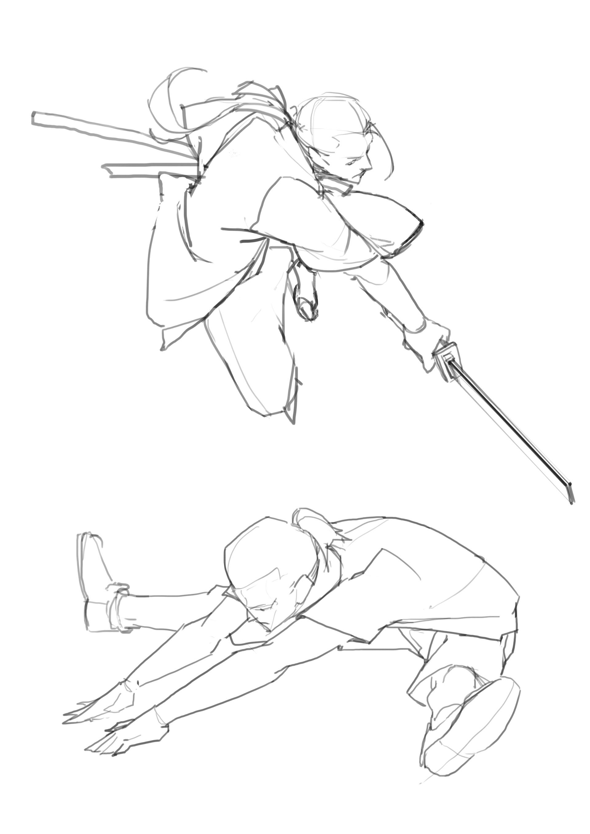 Artstation Study Ming Xiao Drawing Poses Male Anime Poses Reference Figure Drawing Reference