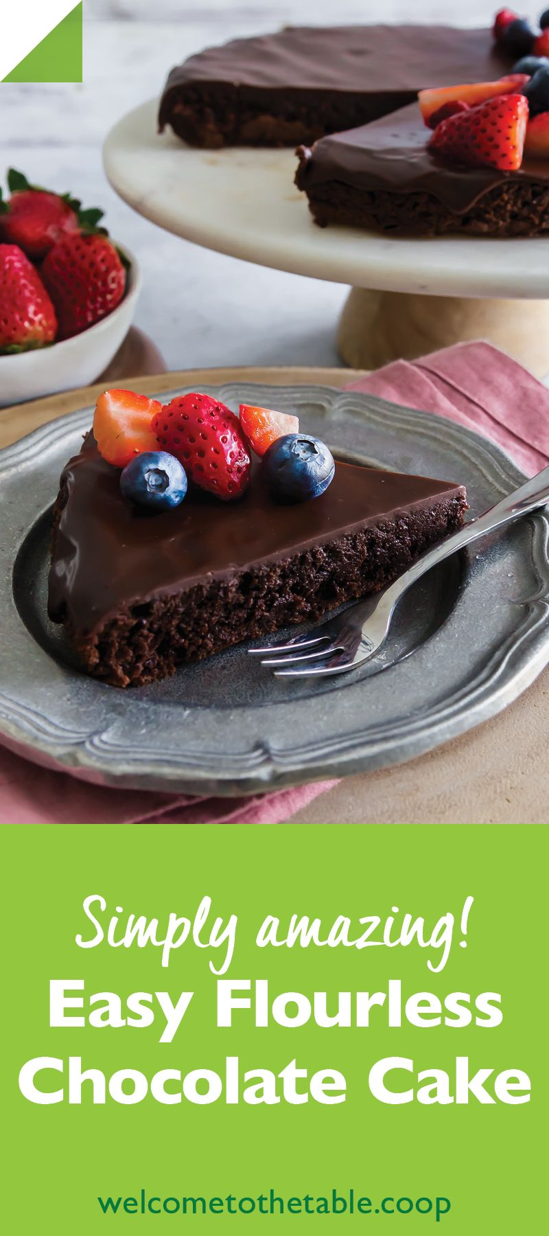 This delightfully rich glutenfree chocolate cake makes no