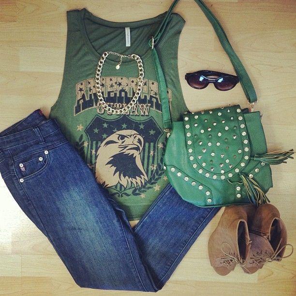Pantalón azul + verde