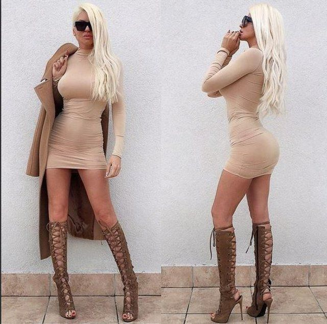 jelena karleusa fashion perfekte figur minirock und. Black Bedroom Furniture Sets. Home Design Ideas