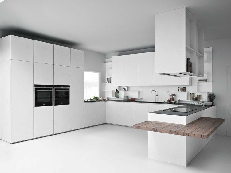 LINE K Kitchen with peninsula by Zampieri Cucine design Stefano ...