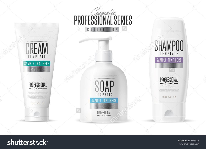 Body Care Professional Series Cosmetic Brand Concept. Tube Cream ...
