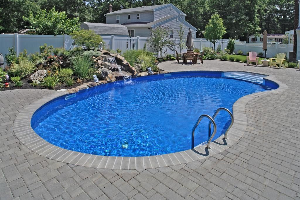 contemporary kidney shaped inground pools for backyard