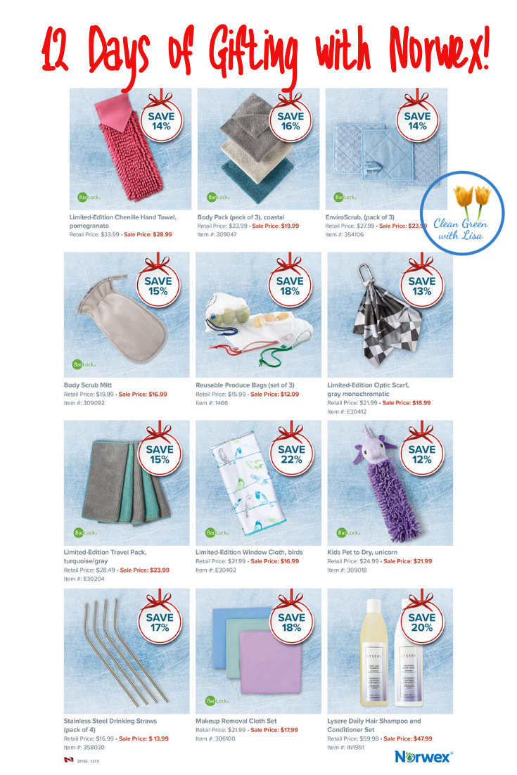12 Days of Gifting Sales Norwex Canada Eco friendly