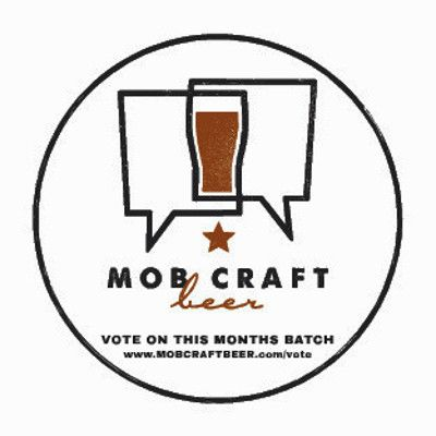 Logo by Kayla Magnor and sticker design by Renee Melton for MobCraft Beer