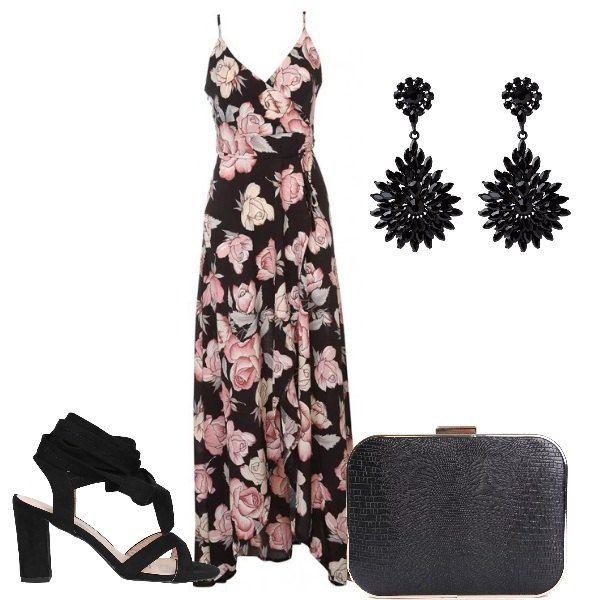 Fiori Rosa Outfit Donna Chic Per Serata Elegante Outfit Donna