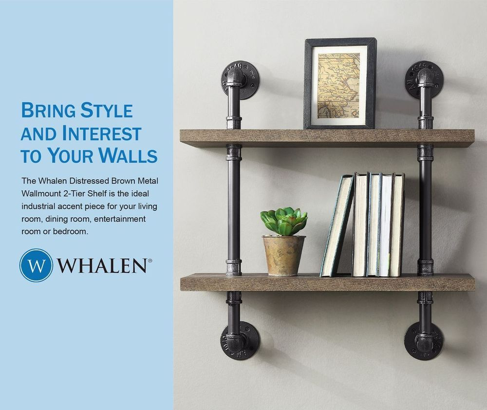 Whalen 23 75 In L X 26 25 In H X 8 In D Wall Mounted Shelving At