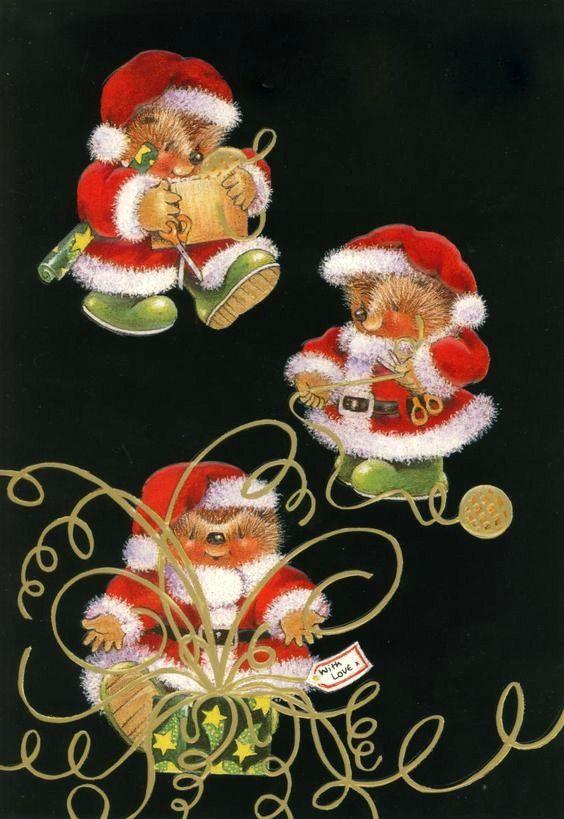 Country Companions Igel Weihnachten Specht