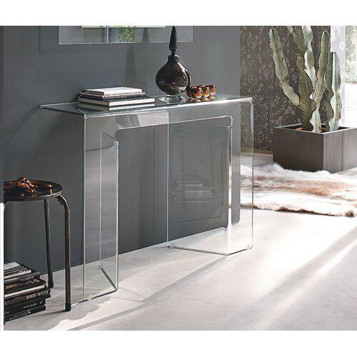 Wade Logan <p></p><strong>Features:</strong><ul><li>Aus gebogenem Glas</li><li>Stil: Zeitgenössisch & Modern</li><li>Tischplattenmaterial: Glas<ul><li>Details zum Tischplattenmaterial: Gebogenes Glas</li><li>Holzart der Tischplatte: </li></ul></li><li>Gestellmaterial: Glas<ul><li>Details zum Gestellmaterial: Gebogenes Glas</li><li>Holzart des Gestells: </li></ul></li><li>Mit Hocker: Nein</li><li>Form der Tischplatte: Rechteckig</li><li>Herkunftsland: China</li><li>Naturbelassene Variationsart: K