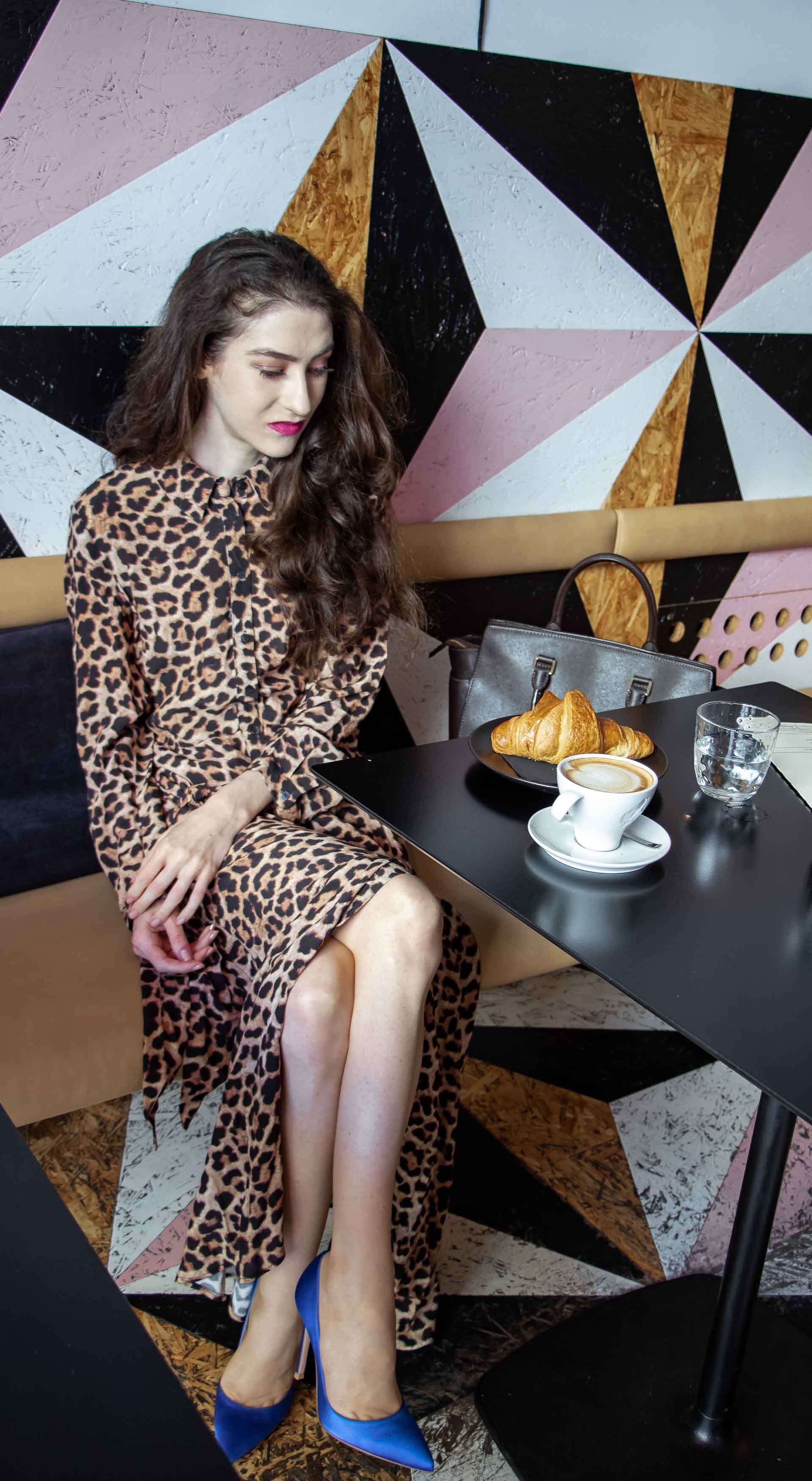 shoes to wear with animal print dress