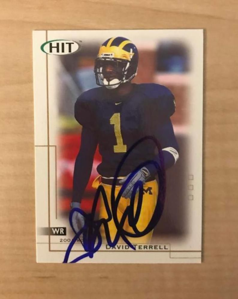 online retailer 6ea53 50b92 DAVID TERRELL CHICAGO BEARS SIGNED AUTOGRAPHED 2001 HIT CARD ...