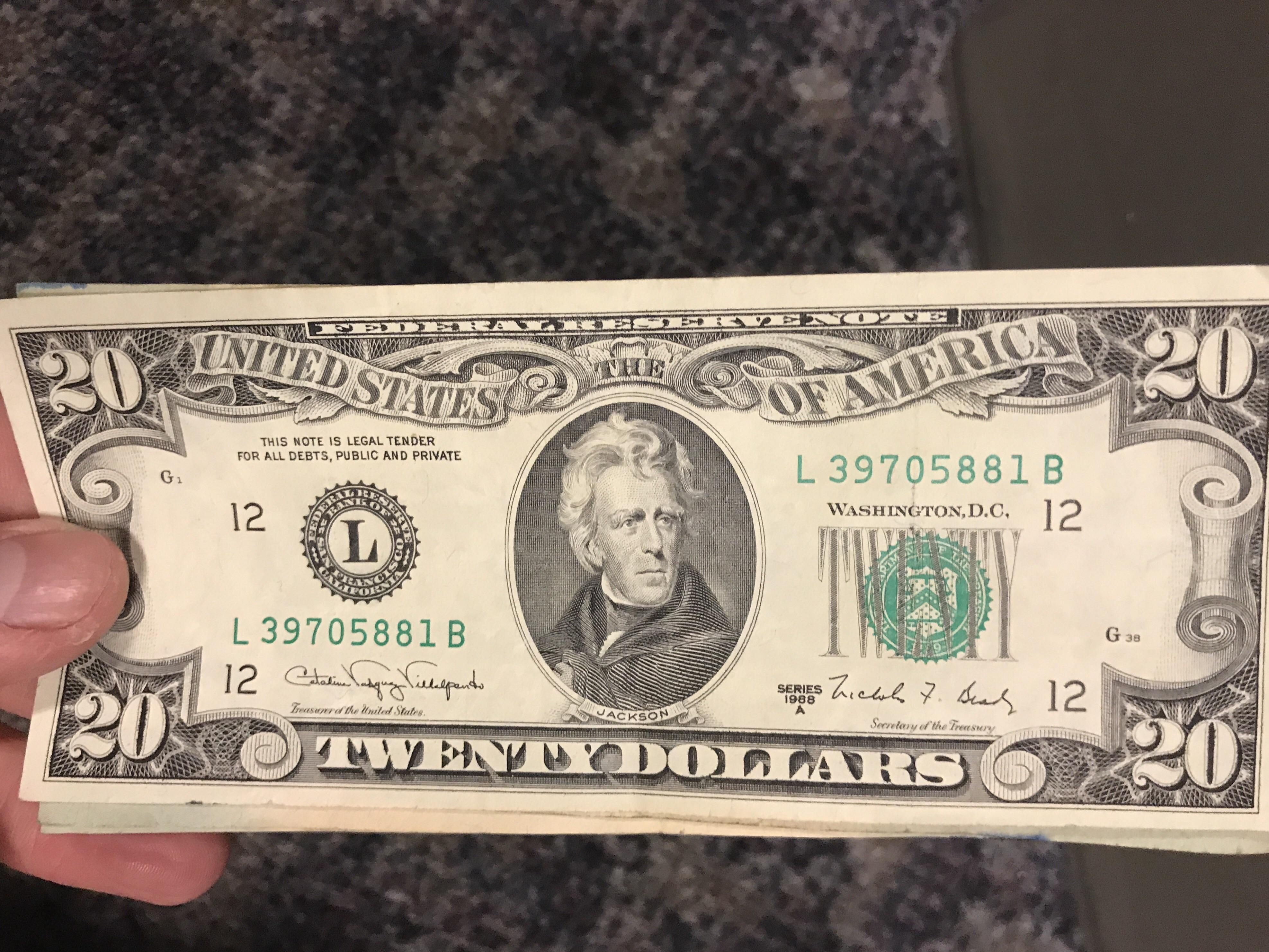 This Nearly 30 Year Old 20 Bill In My Cash Register