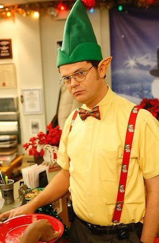 Dwight Christmas.Elf Dwight The Office Dwight The Office Nbc Office