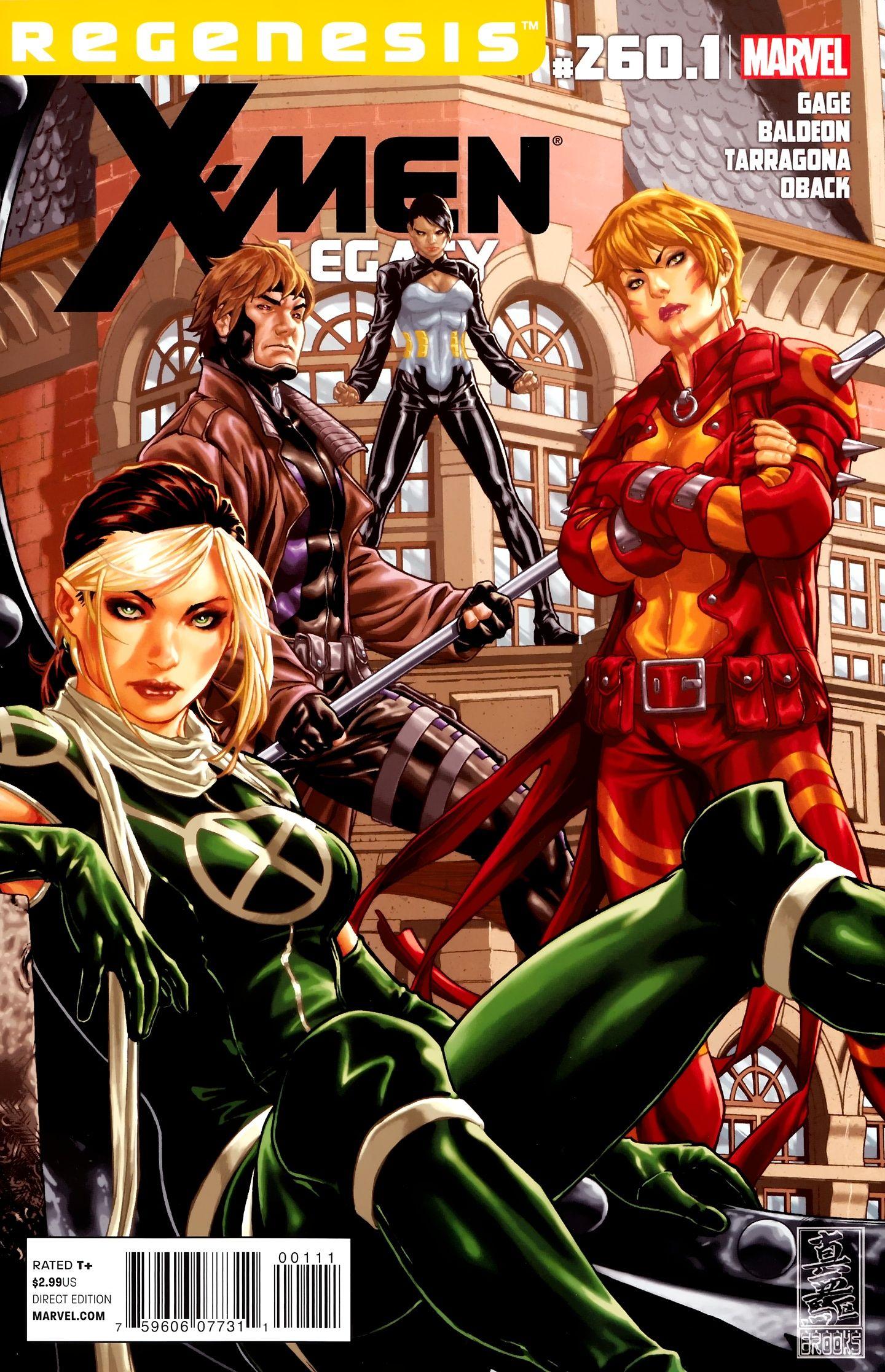 X Men Legacy Vol 1 260 1 Cover Art By Mark Brooks Marvel Girls Comics Comic Illustration