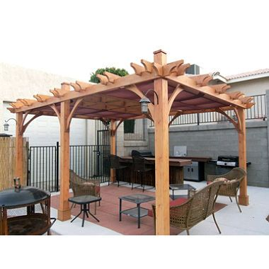 Western Red Cedar Pergola 12 X 16 Sam S Club Pergola Patio Wood Pergola Cedar Pergola