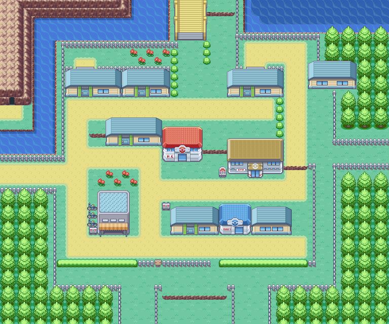 Mapa Pokemon Rojo Fuego.Cerulean City Pokemon Wallpaper Videojuegos Fondos De