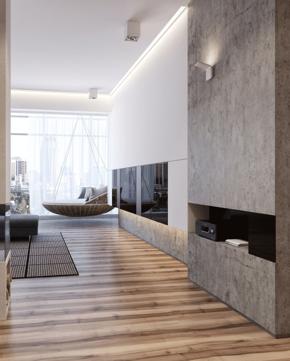 Gallery Apartment Interior Design: Two Apartments With Sleek Grayscale Interiors