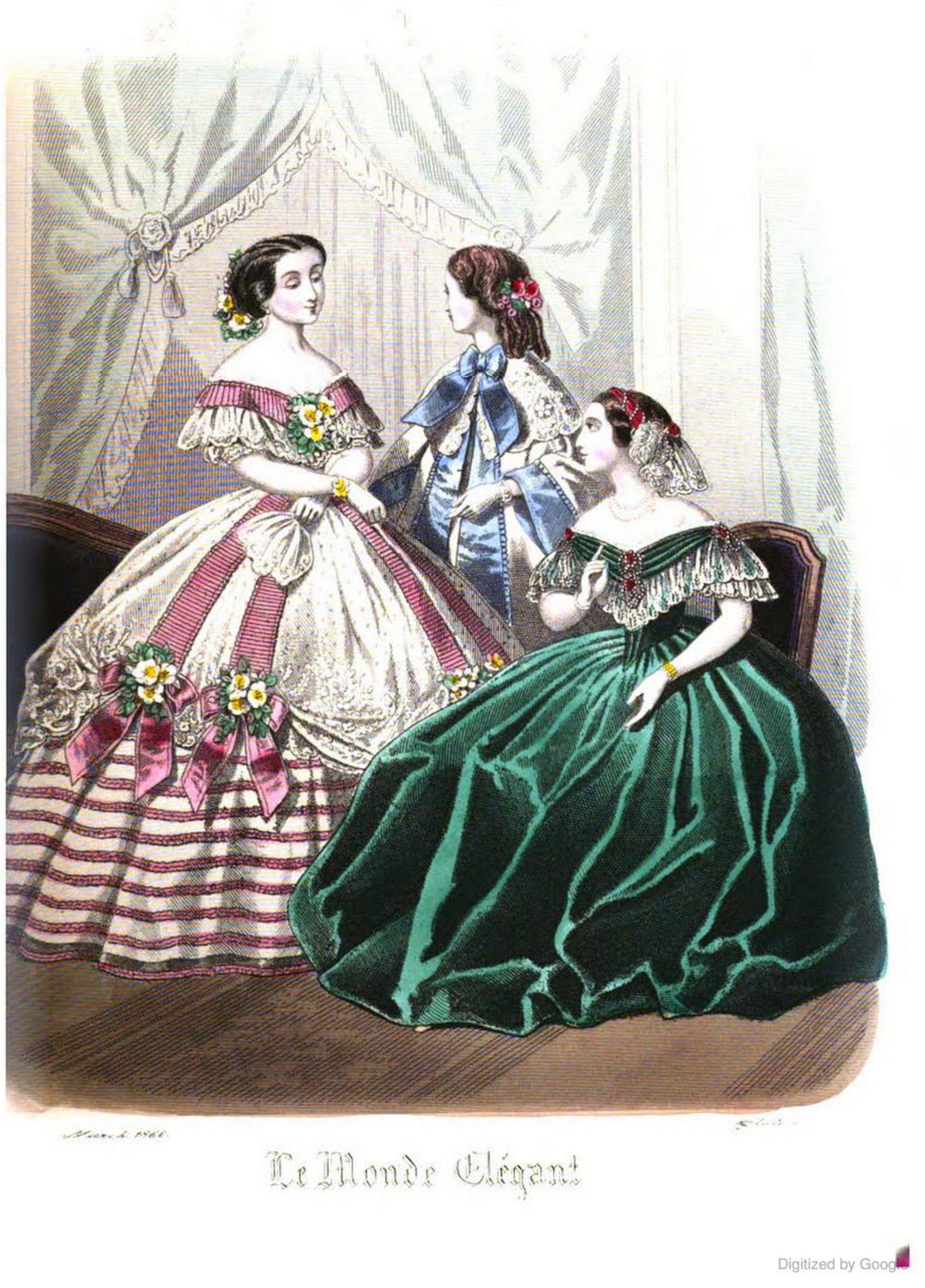 Le Monde Elegant 1860 March  dd900d4fa6f