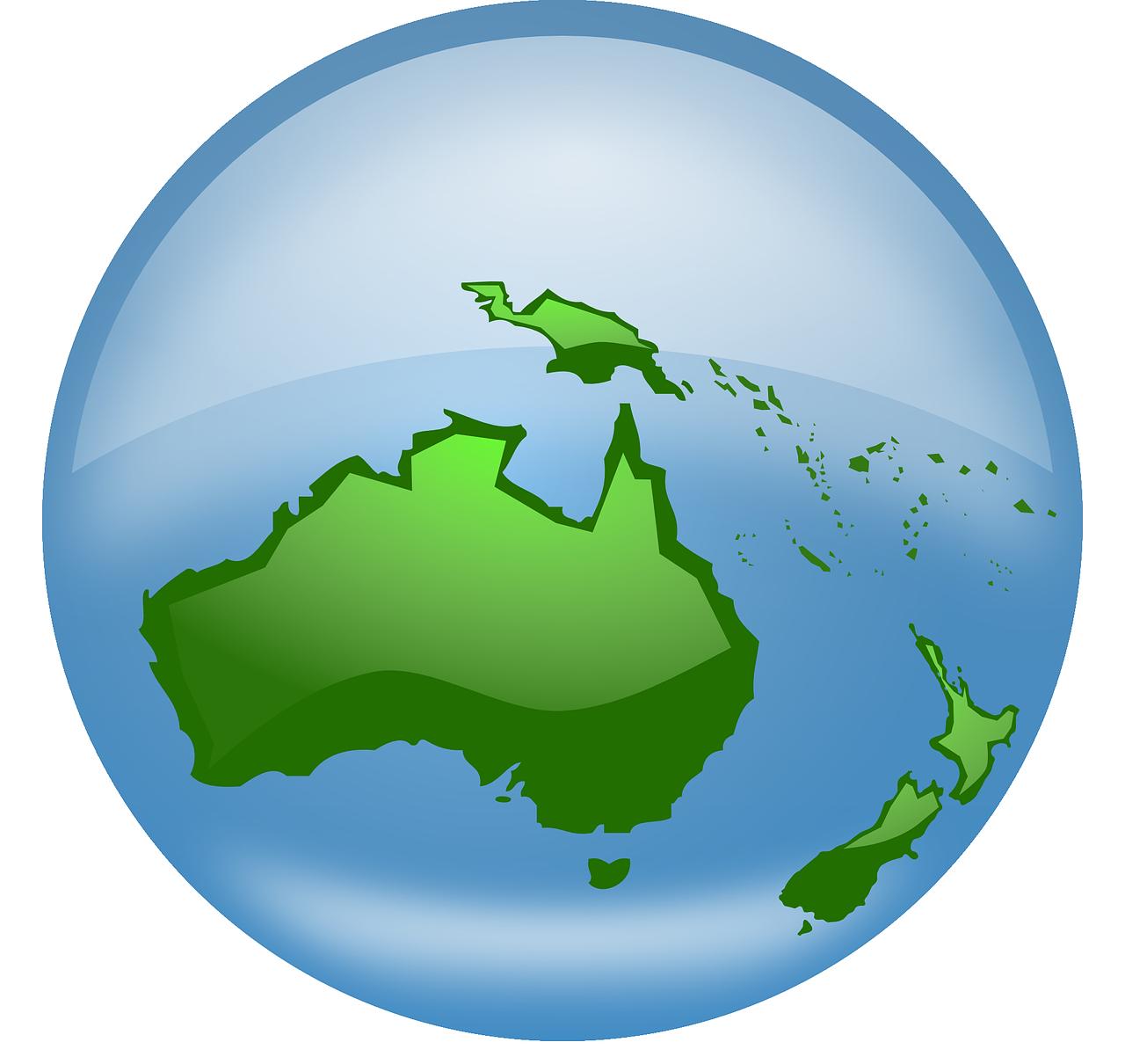 australia globe world earth oceania map australia globe
