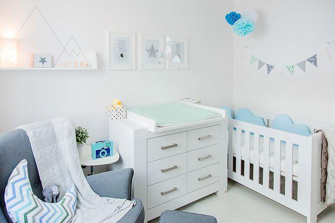 Babyzimmer hellblau grau
