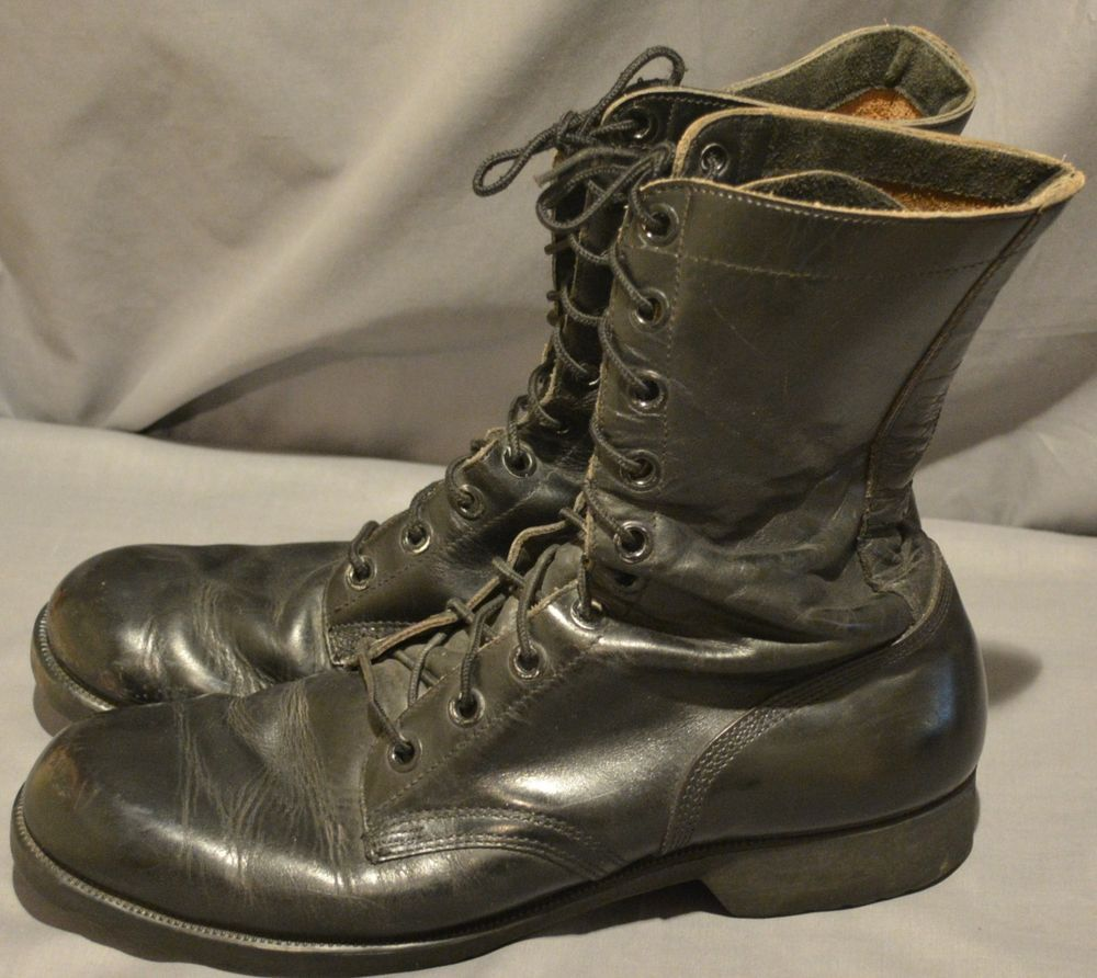 3844320fce18b 1969 Vietnam Era Leather Military Army Combat Motorcycle Biker Boots ...
