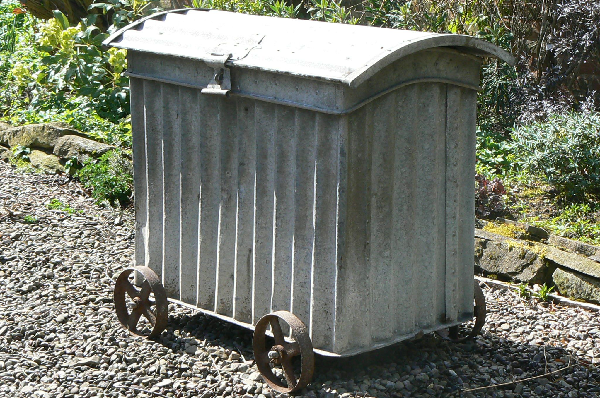 Galvanized Storage Bins | Holloways Garden Antiques  U003e Miscellaneous  U003e Galvanized  Storage Bin
