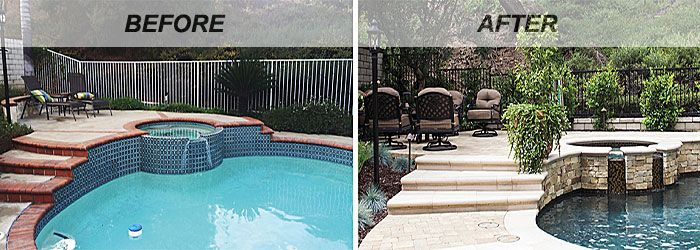 Swimming Pool Renovations Before And After Swimming Pool Renovation Pool Renovation Swimming Pool Remodeling