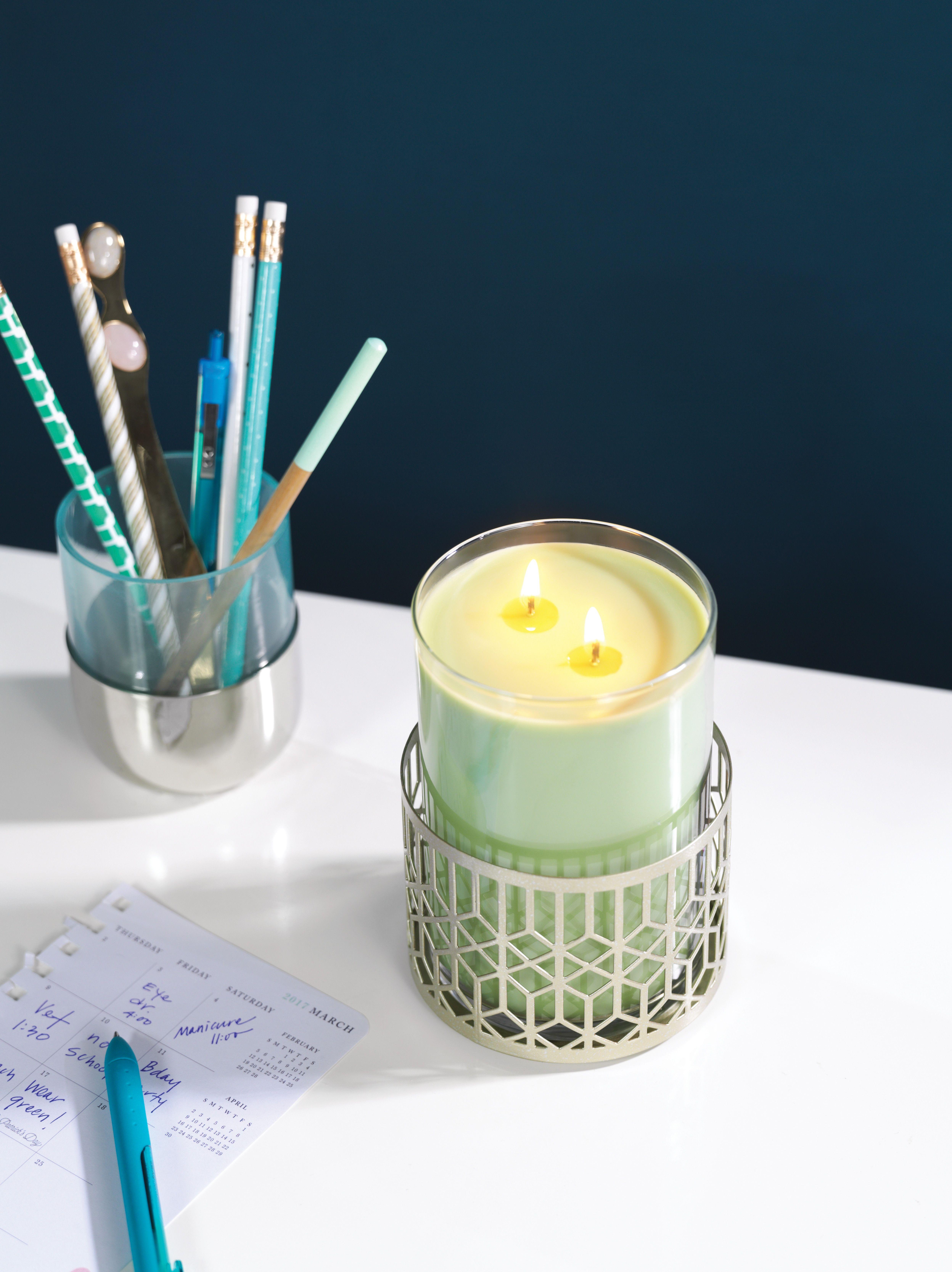 Shimmering lattice small metal jar candle holder pinterest car