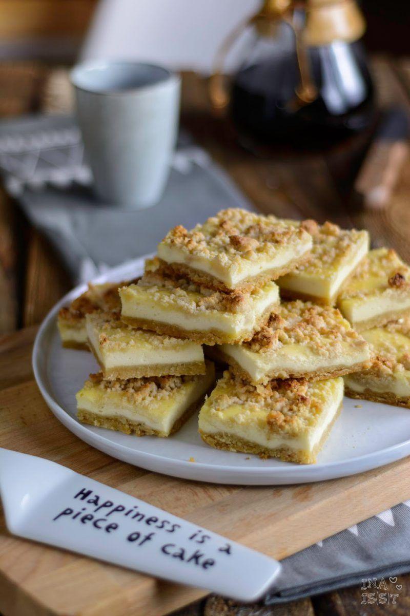 Kasekuchen Vom Blech Mit Marzipanstreuseln Und Gemahlenen Mandeln Essen Kasekuchen Vom Blech Kuchen