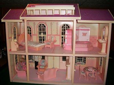 Vintage Barbie 1990 Magical Mansion Dolls Furniture The Works 238249483 Vintage Barbie Barbie Doll House Barbie 1990