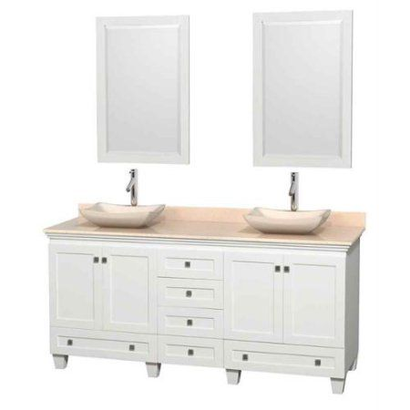 Wyndham Collection Acclaim 72 Inch Double Bathroom Vanity In White