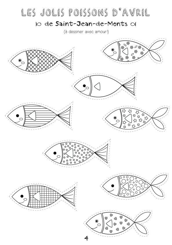Printable Coloriages Poissons D Avril Coloriage