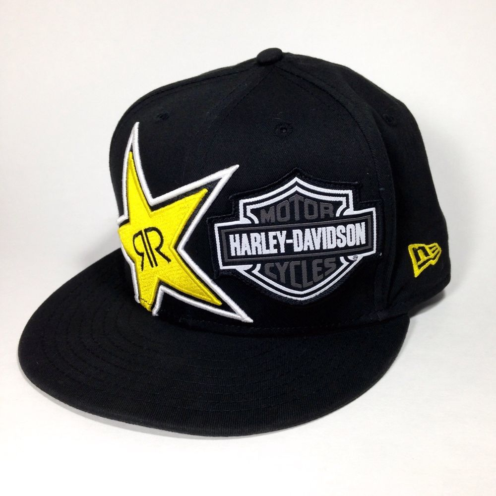Harley Davidson Fitted Hats: Harley Davidson Rockstar Energy Drink New Era 9Fifty