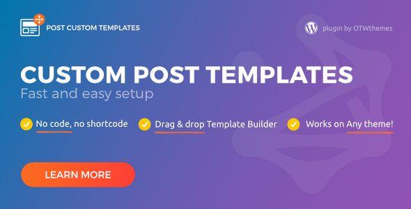 Wordpress create post template wordpress custom single post post custom templates pro v1 3 wordpress plugin https maxwellsz