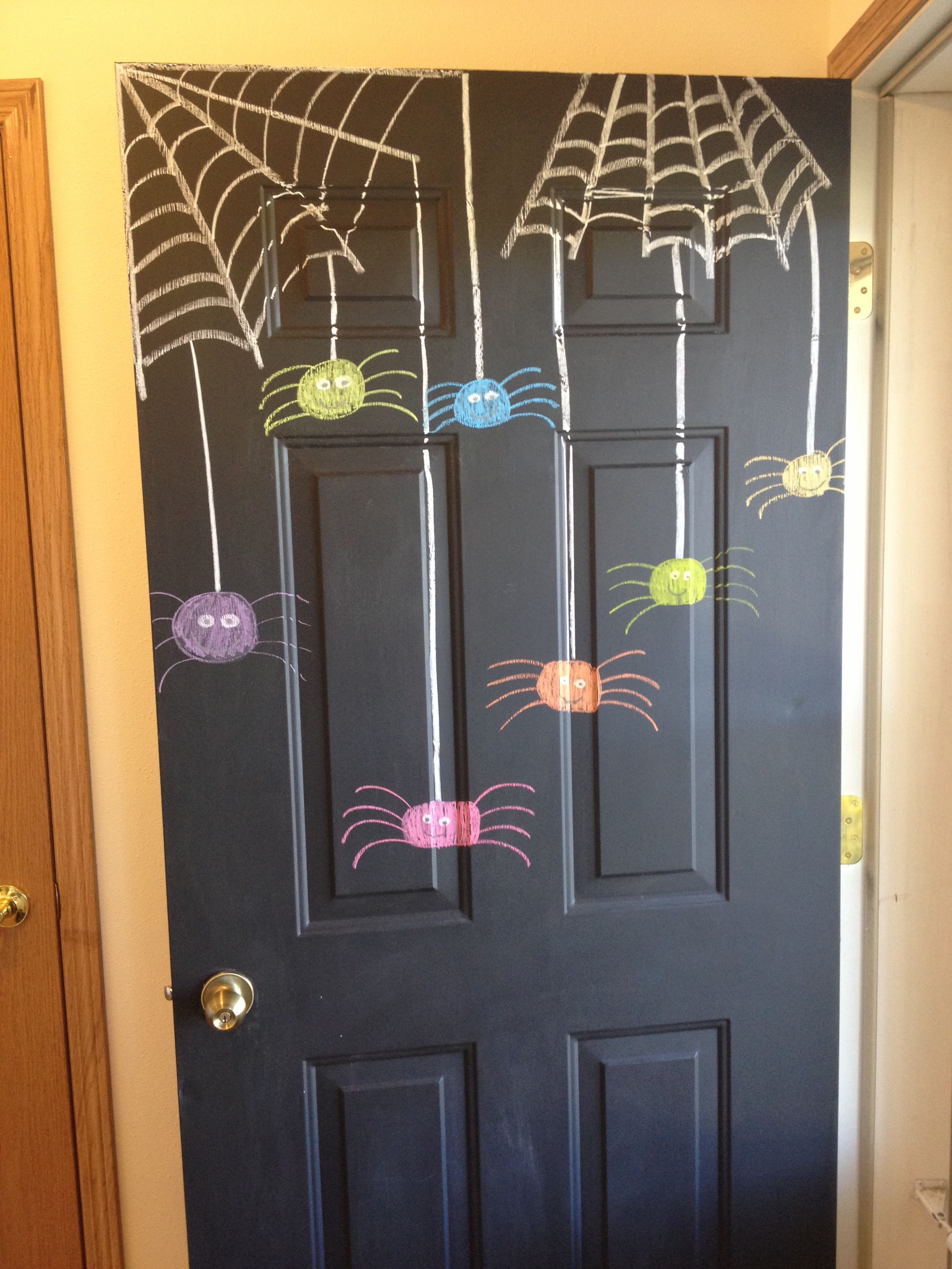 planning to do this - use as a way to remember all of the things we - Front Door Halloween Decoration Ideas