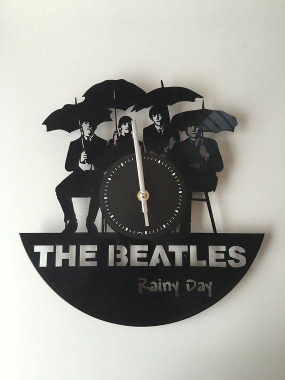 Orologio da muro Beatles, in vinilo
