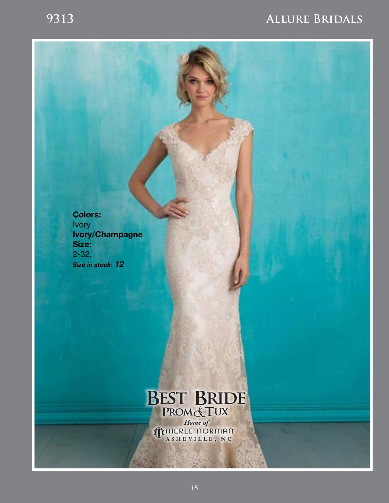 Inspired by vintage lace, this slip gown is both delicate and ...
