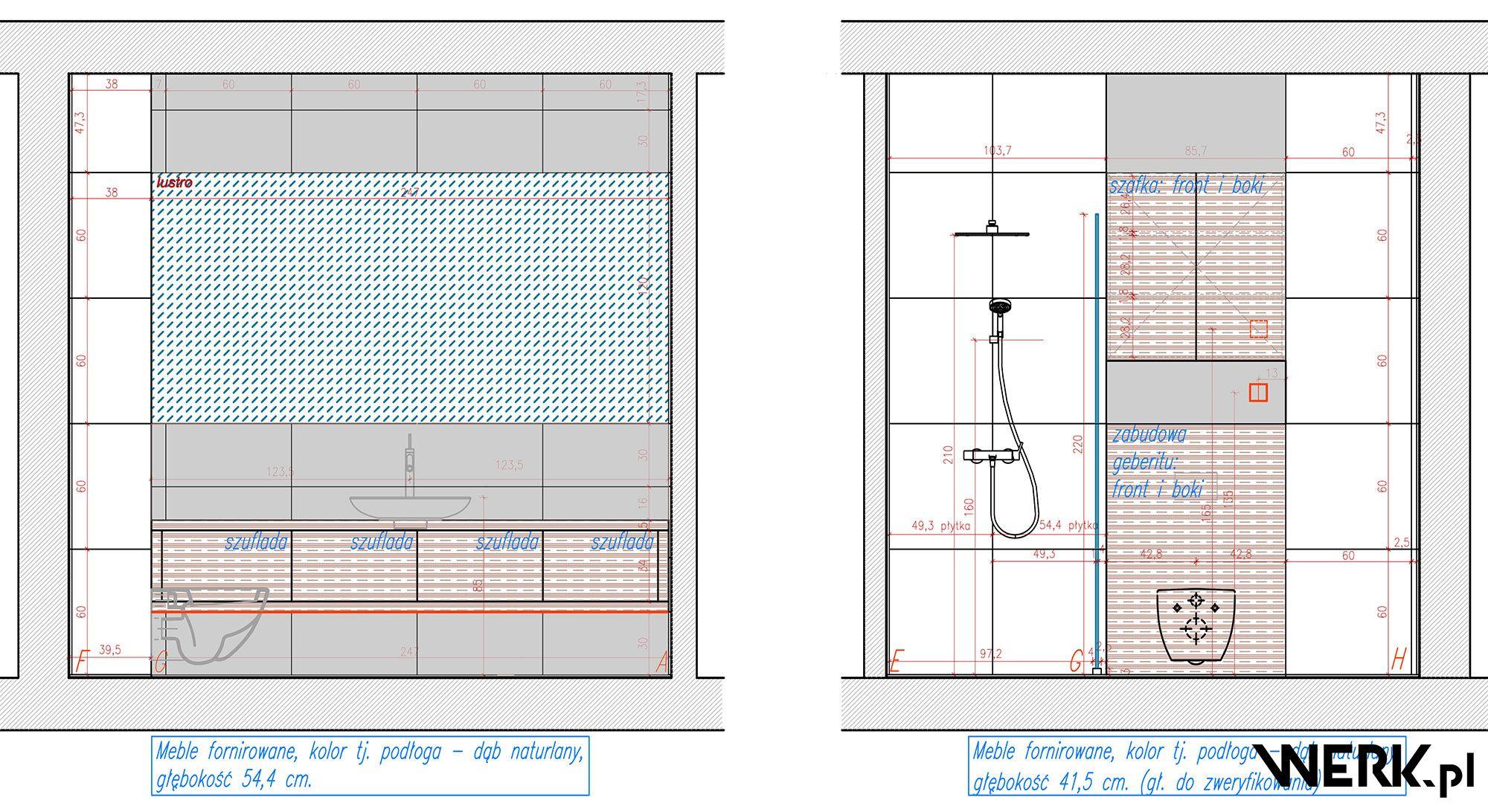 Mieszkanie żoliborz Autorski Projekt Wnętrz łazienki Przy