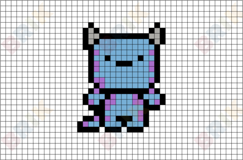 Sulley Pixel Art
