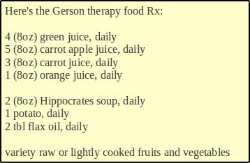 dieta gerson)