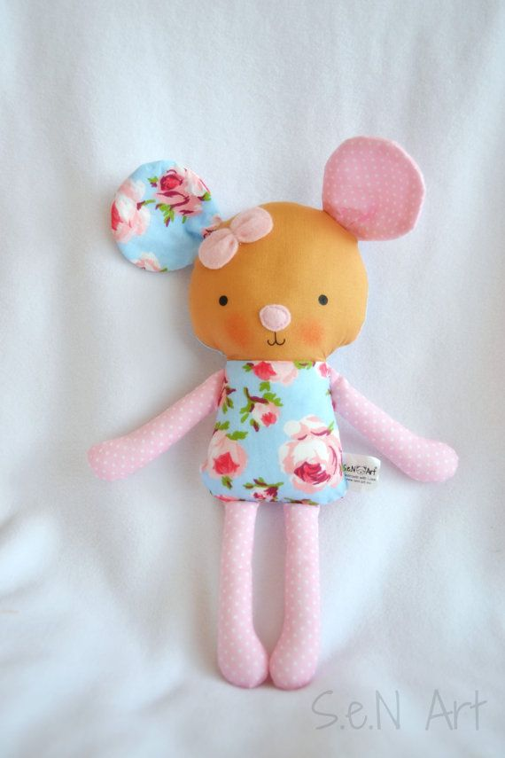 Handmade Fabric Mousem Little Soft Mouse Toy Plush Toy Baby Girl