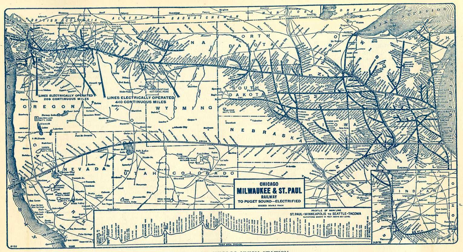 The Milwaukee Road  Chicago Milwaukee And St Paul Railway To - Chicago map of trains
