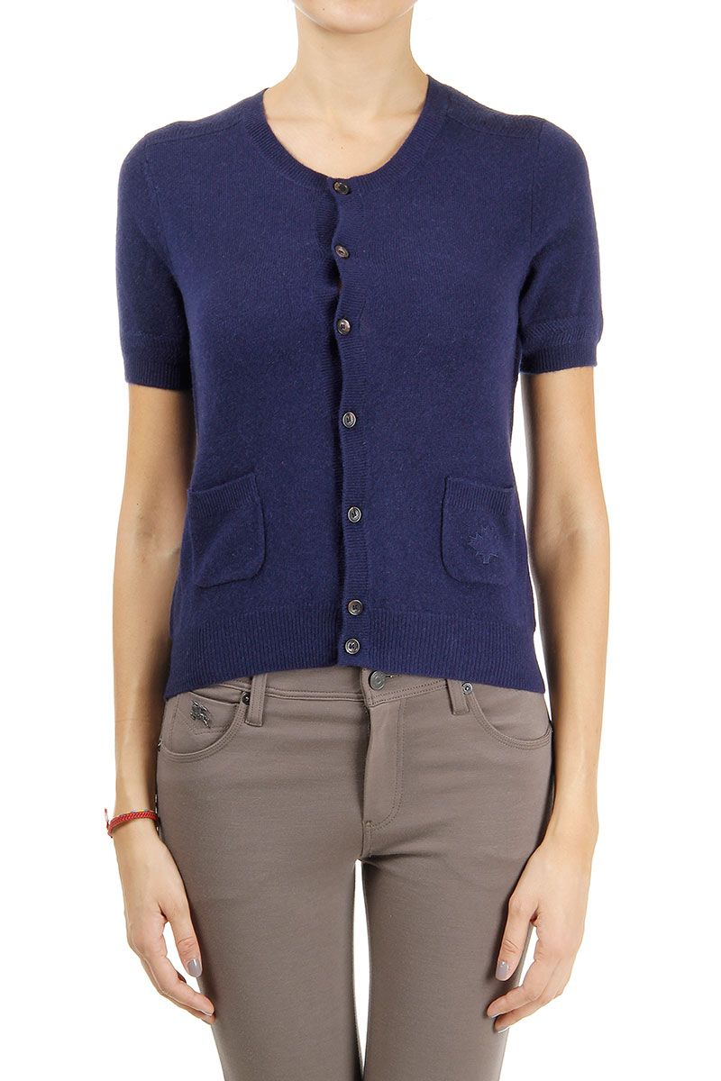 Dsquared2 knitted cashmere cardigan sweater with short sleeves ...