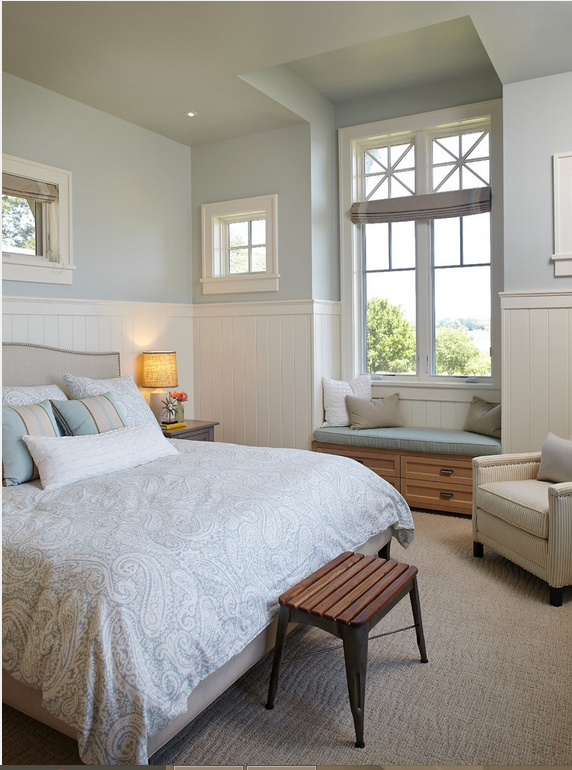 Simple And Serene Master Bedroom With Beautiful Windows View