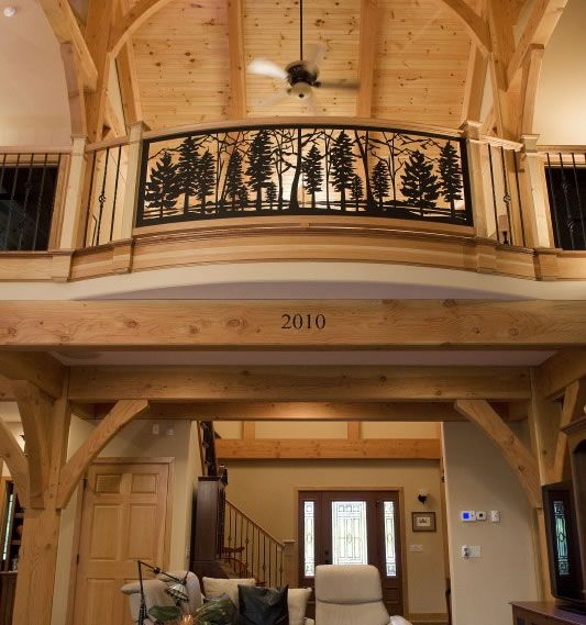 Best Mountain Lake Railing St8 12 In Timber Frame Home By 400 x 300