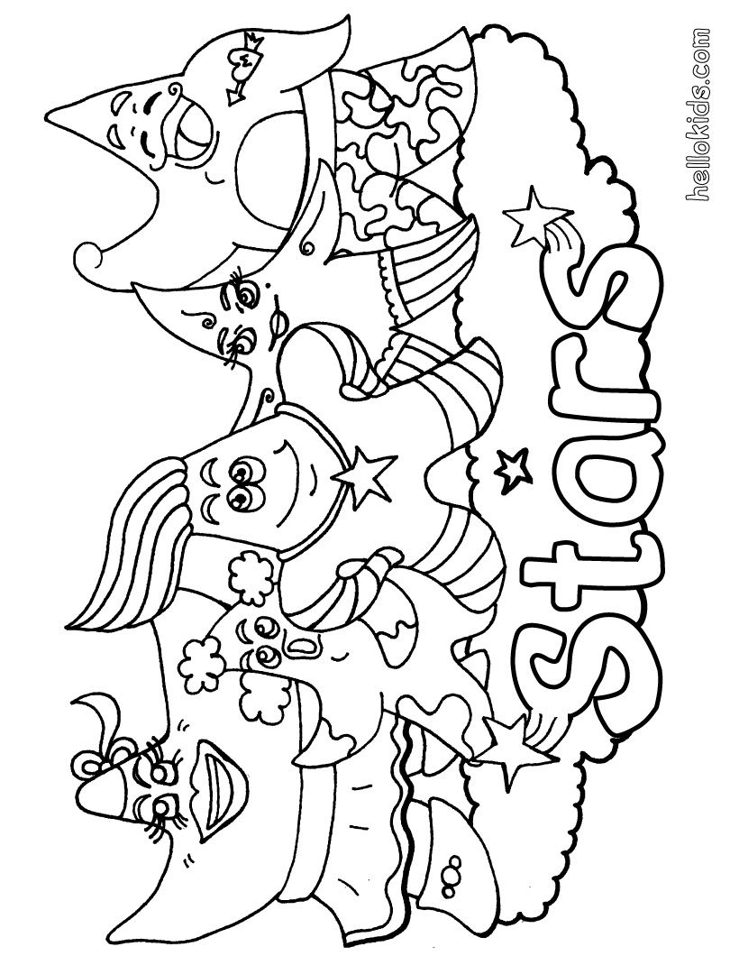 Ocean Coloring Pages | FANTASY to color in - Sea star coloring page ...