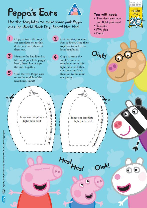 how to make a peppa pig costume for world book day with