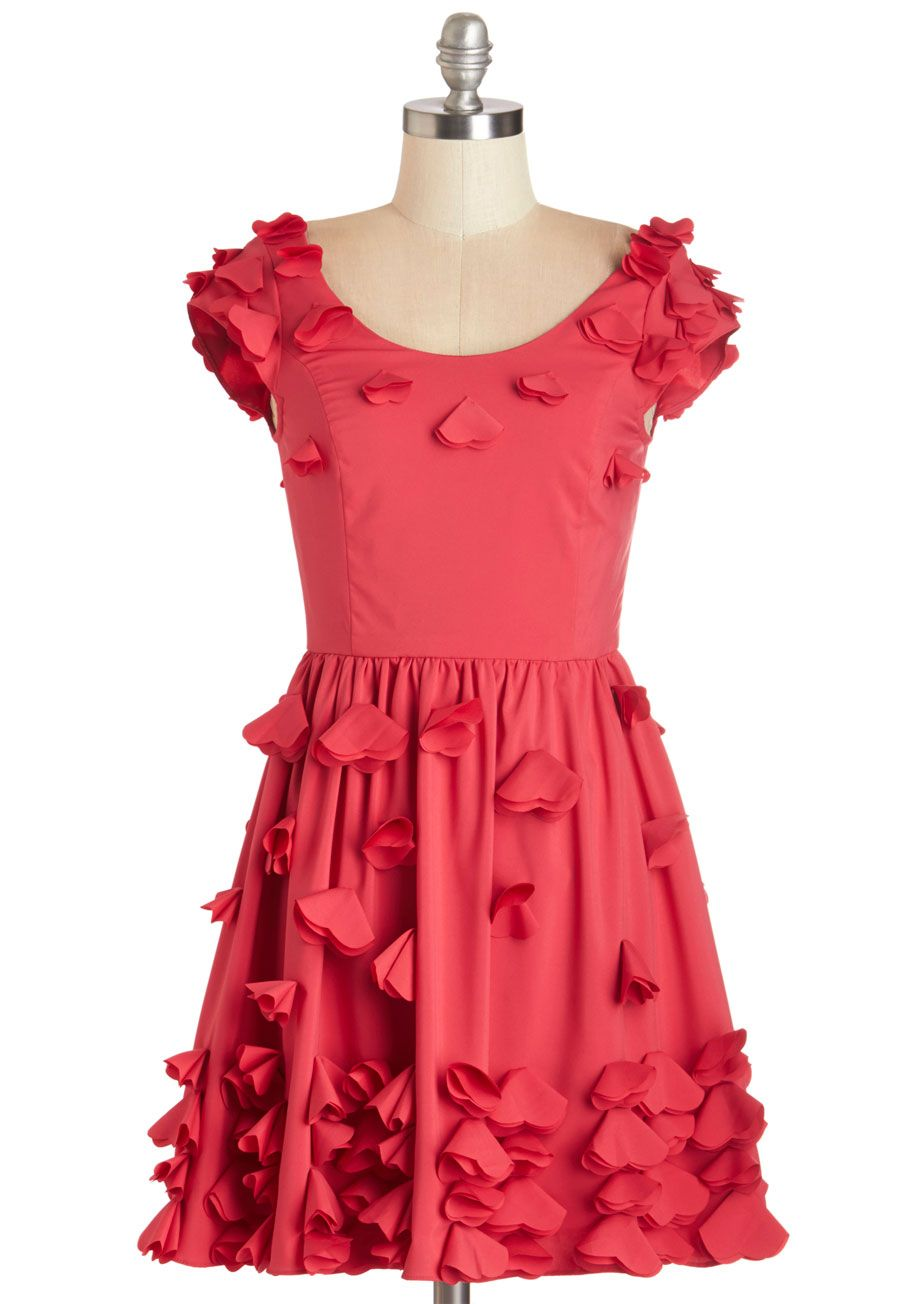 cd48b40869e5 Flutter By Dress. Hearts are aflutter at the vision of you in this raspberry-pink  dress.  pink  modcloth