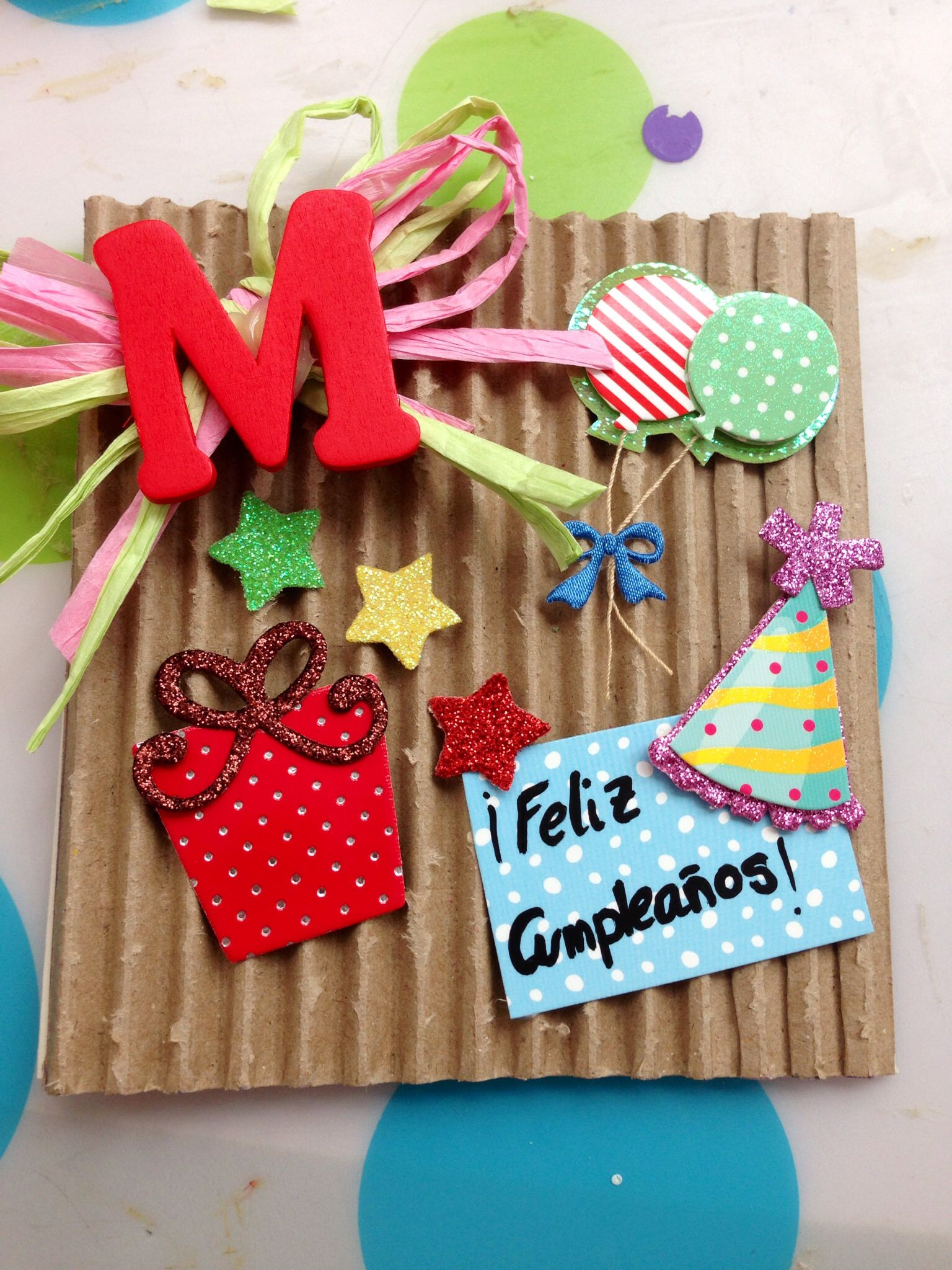 Una tarjeta de cumpleaños para mi amiga Melisa Manualidades Pinterest Ideas, Birthdays and