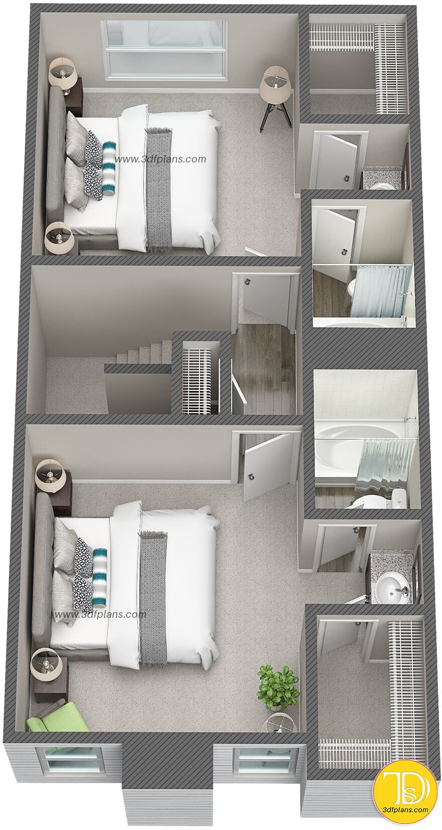 3d Floor Plans For Apartment Community In Houston Tx In 2020 Condo Floor Plans Home Design Floor Plans House Layout Plans